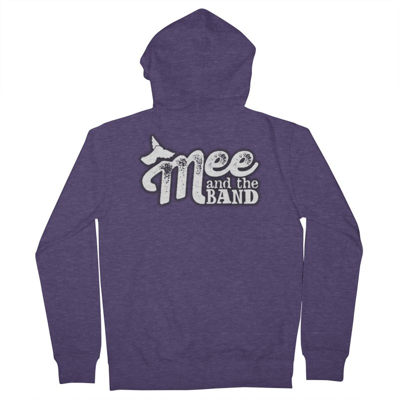 Mee And The Band Logo with shadow in Men's French Terry Zip-Up Hoody Heather Purple by Mee And The Band