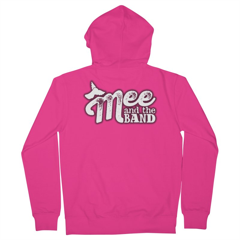 Mee And The Band Logo with shadow Men's French Terry Zip-Up Hoody by Mee And The Band