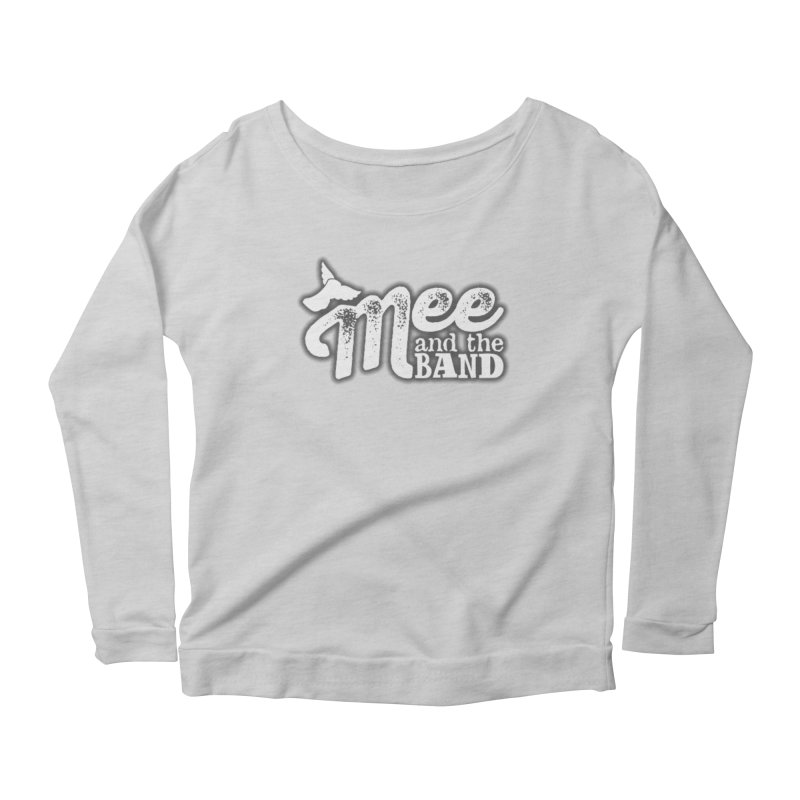 Mee And The Band Logo with shadow Women's Scoop Neck Longsleeve T-Shirt by Mee And The Band