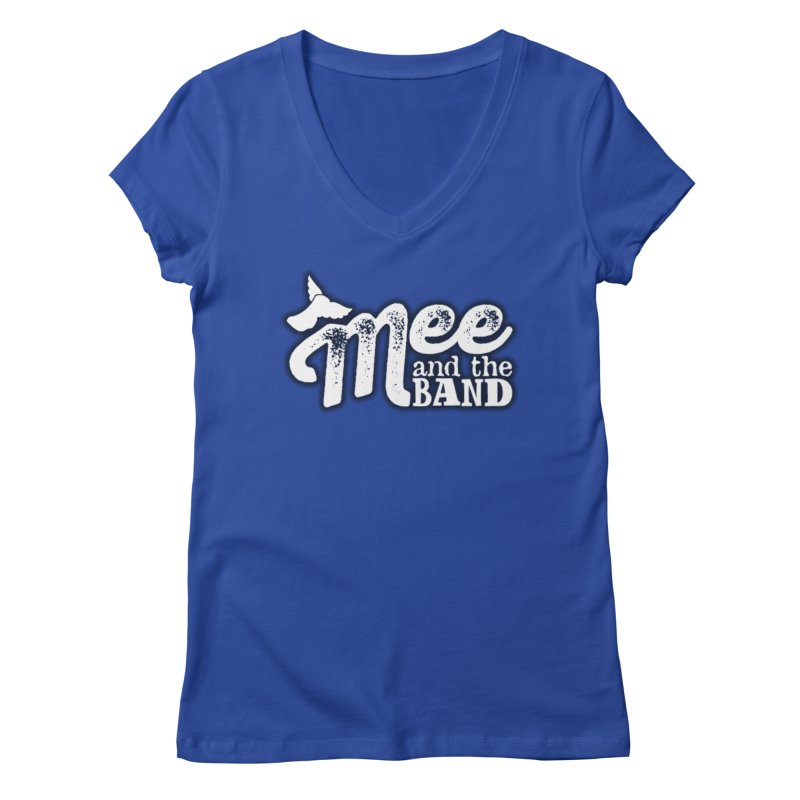 Mee And The Band Logo with shadow Women's Regular V-Neck by Mee And The Band