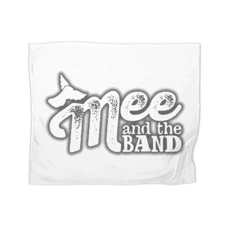Mee And The Band Logo with shadow Home Fleece Blanket Blanket by Mee And The Band