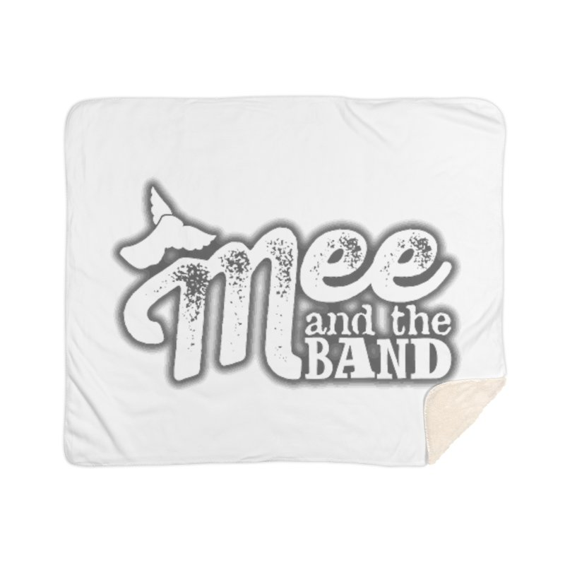 Mee And The Band Logo with shadow Home Sherpa Blanket Blanket by Mee And The Band