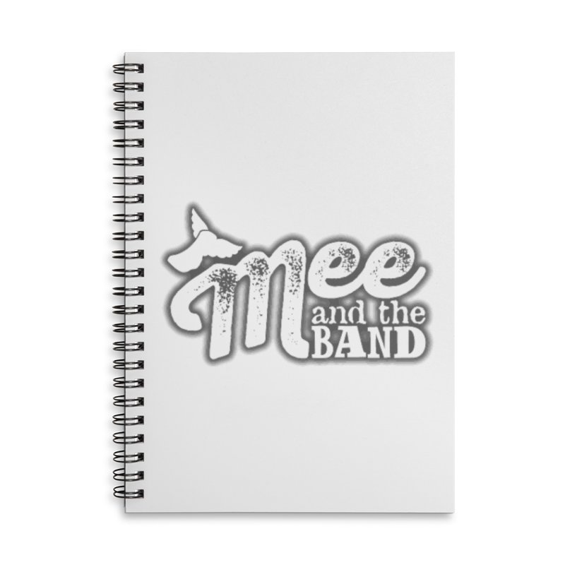Mee And The Band Logo with shadow Accessories Lined Spiral Notebook by Mee And The Band