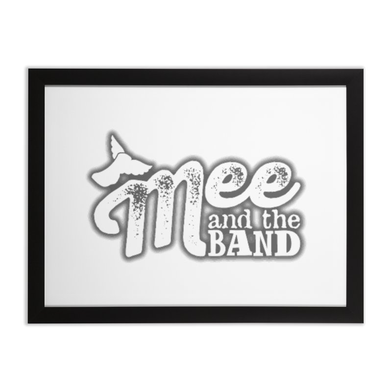 Mee And The Band Logo with shadow Home Framed Fine Art Print by Mee And The Band