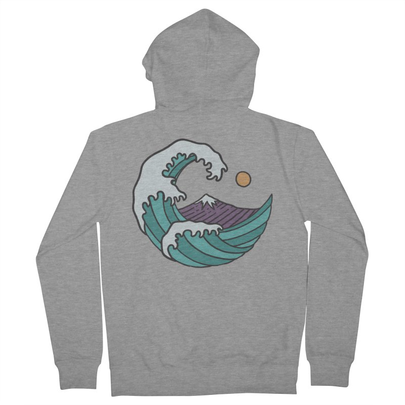 Great Wave Men's Zip-Up Hoody by MEECH