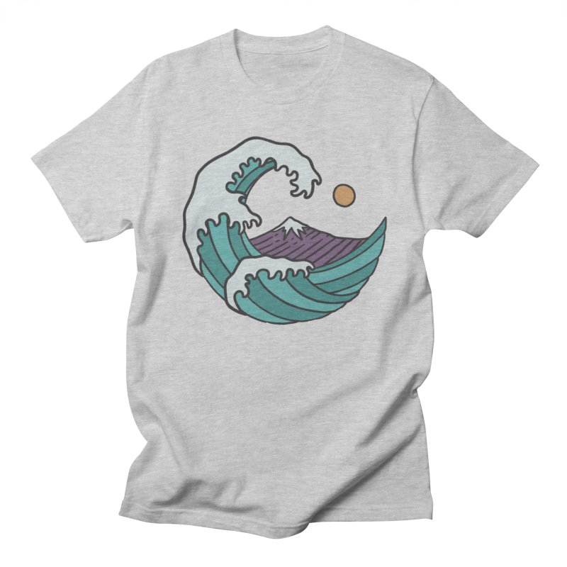 Great Wave in Men's T-shirt Heather Grey by MEECH