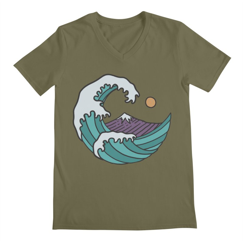 Great Wave Men's V-Neck by MEECH