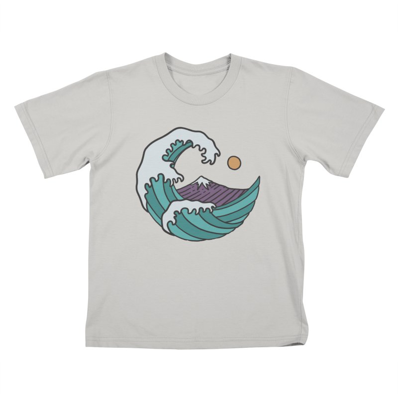 Great Wave Kids T-shirt by MEECH