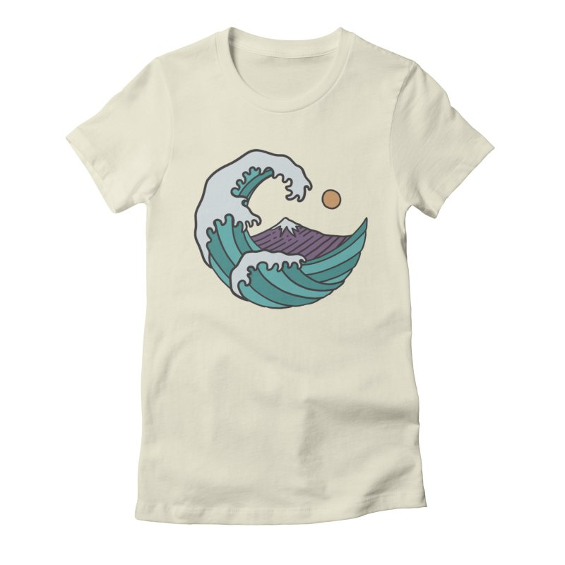 Great Wave Women's Fitted T-Shirt by MEECH