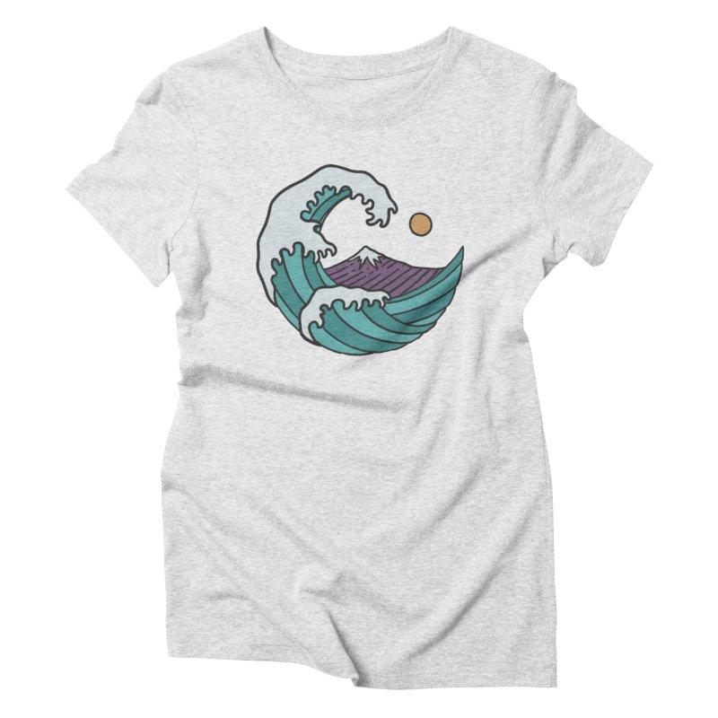 Great Wave Women's Triblend T-shirt by MEECH