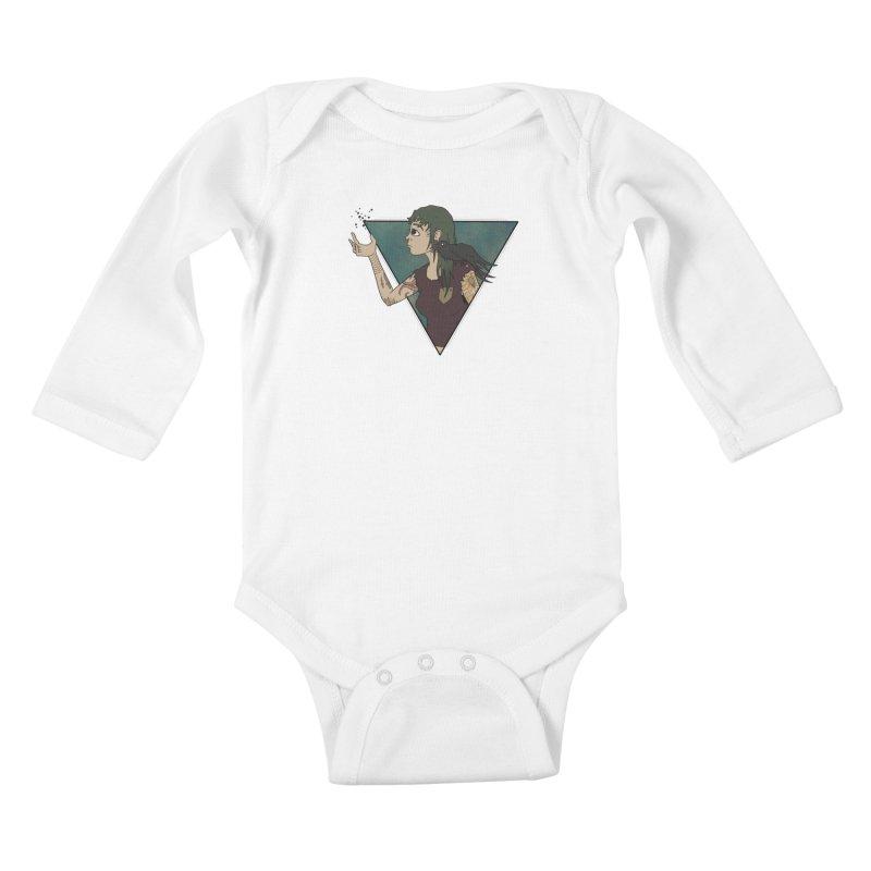 Bending the dark void Kids Baby Longsleeve Bodysuit by MEECH