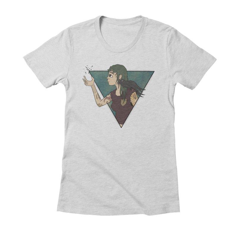 Bending the dark void Women's Fitted T-Shirt by MEECH