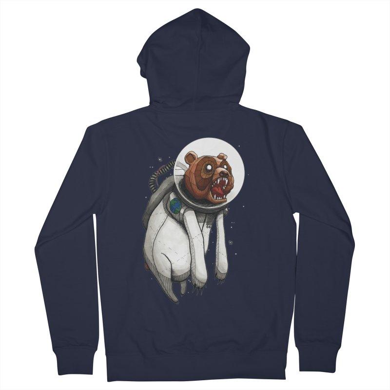 Space Bear Men's Zip-Up Hoody by MEECH