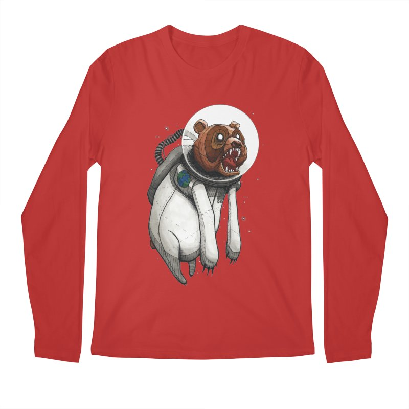 Space Bear Men's Longsleeve T-Shirt by MEECH
