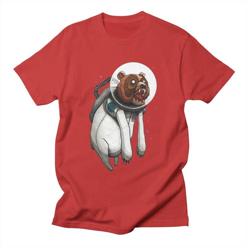 Space Bear Men's T-Shirt by MEECH