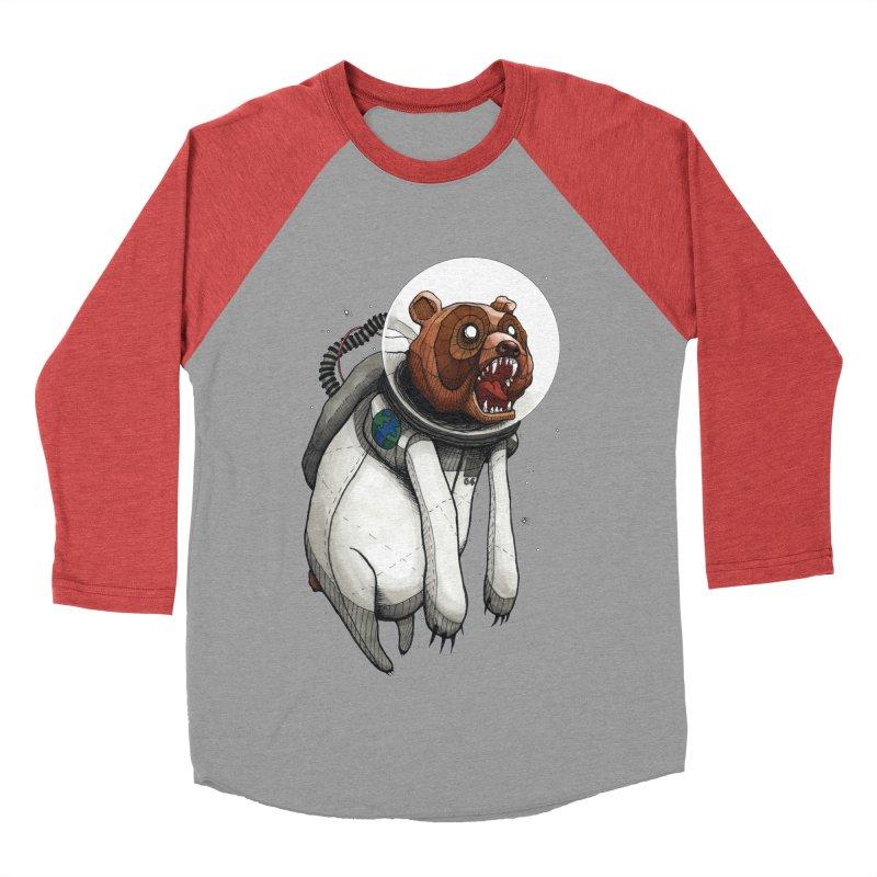 Space Bear Women's Baseball Triblend T-Shirt by MEECH