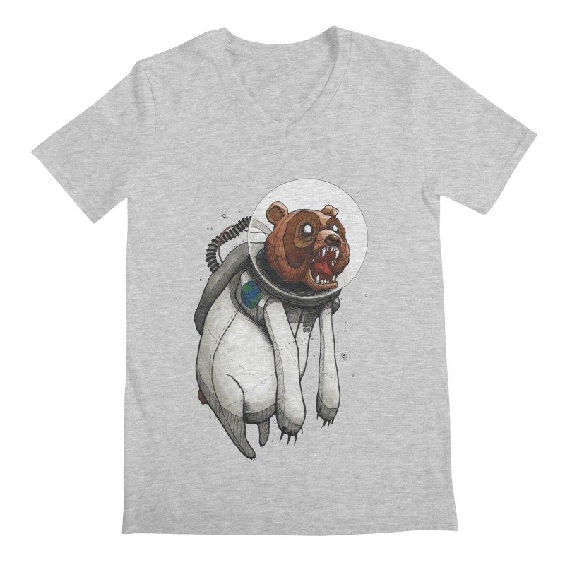 Space Bear Men's V-Neck by MEECH