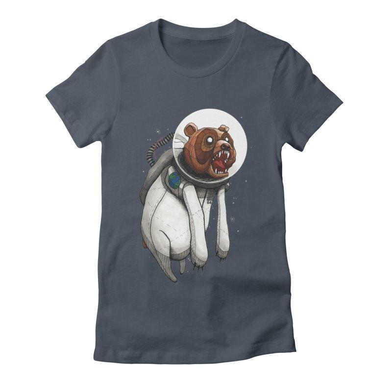 Space Bear Women's Fitted T-Shirt by MEECH