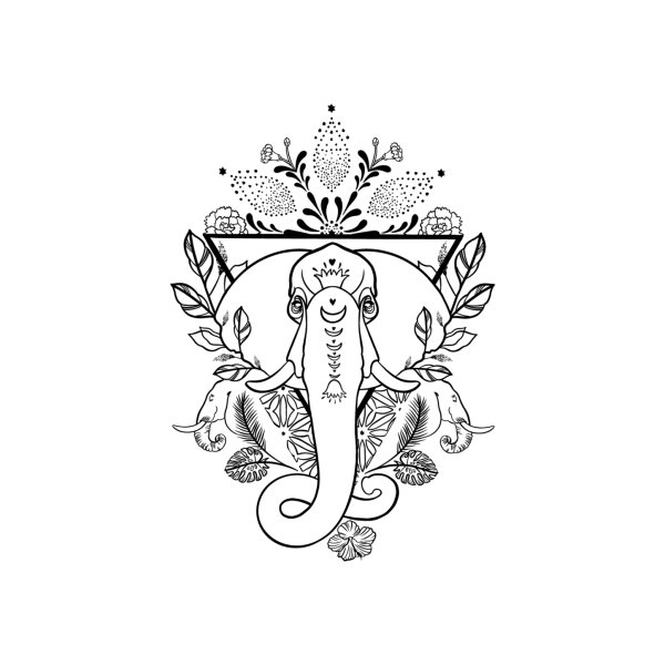 Design for Elephant LineWork