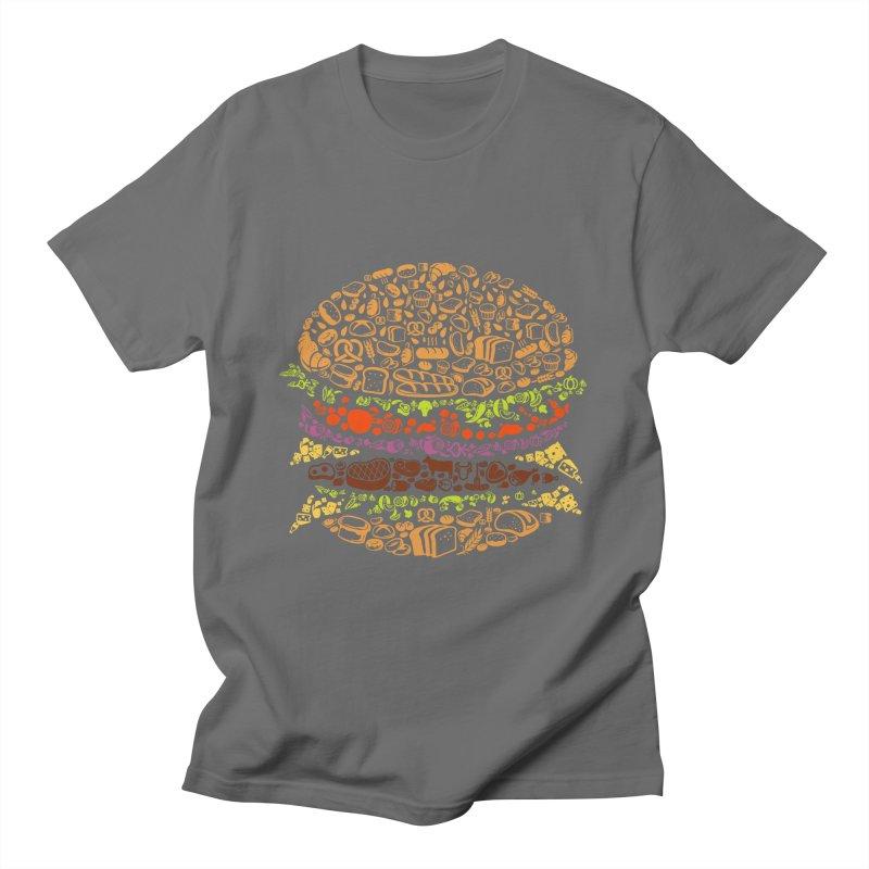 Big Ol' Burger Men's T-Shirt by MELOGRAPHICS