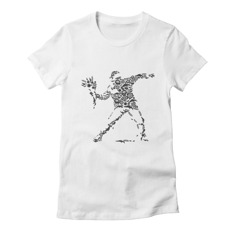 Flower Fight Women's T-Shirt by MELOGRAPHICS