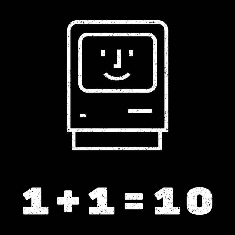 Coding Math: 1 + 1 = 10 Men's T-Shirt by MELOGRAPHICS