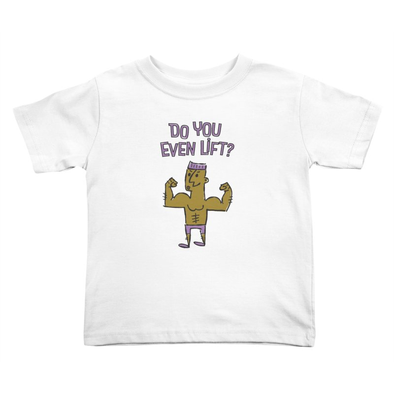 Lift Purple Kids Toddler T-Shirt by ME&MO Design
