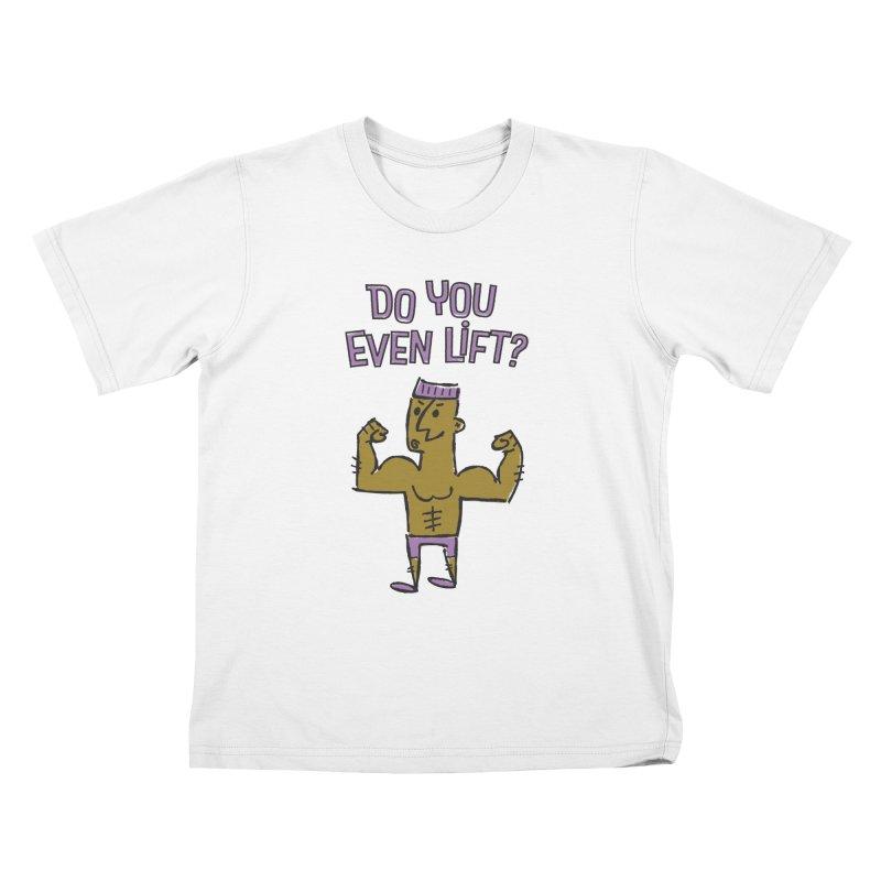 Lift Purple Kids T-Shirt by ME&MO Design