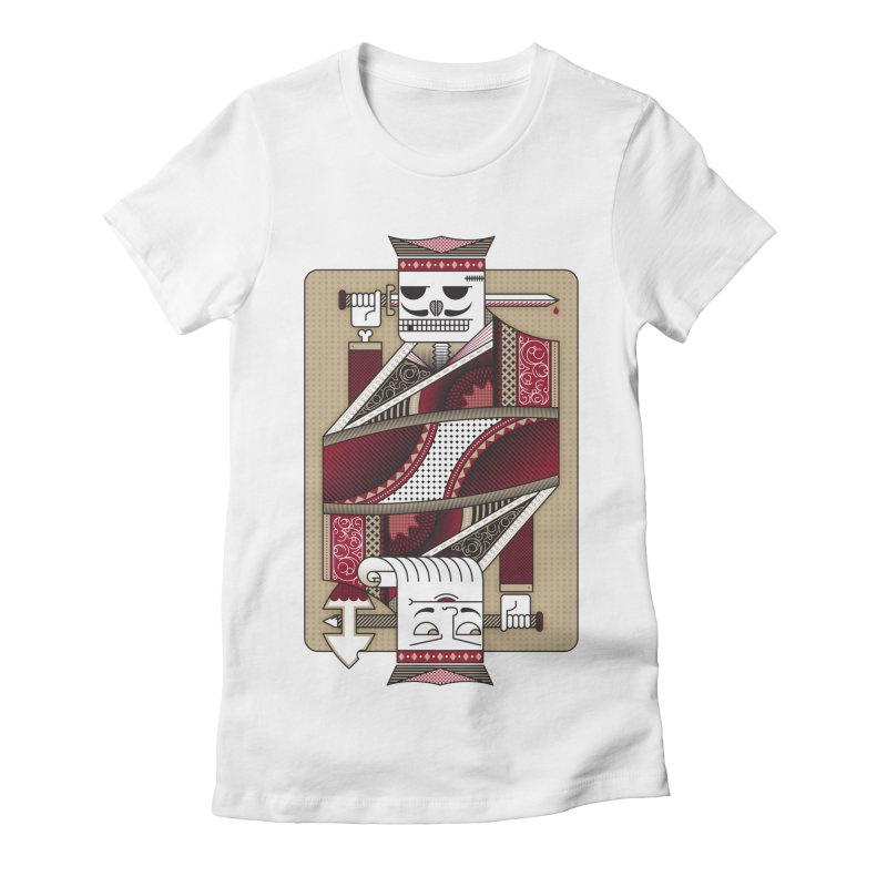 King Women's Fitted T-Shirt by MEMOS