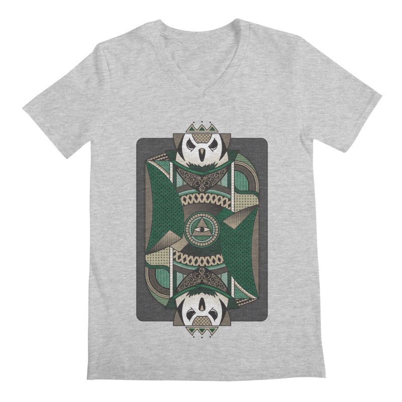 Owl Men's V-Neck by MEMOS