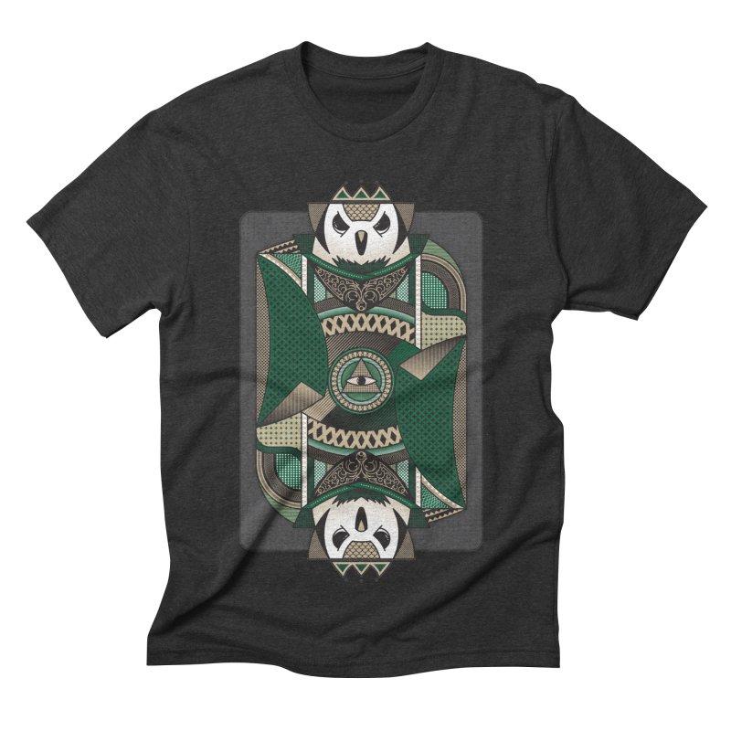 Owl Men's Triblend T-shirt by MEMOS