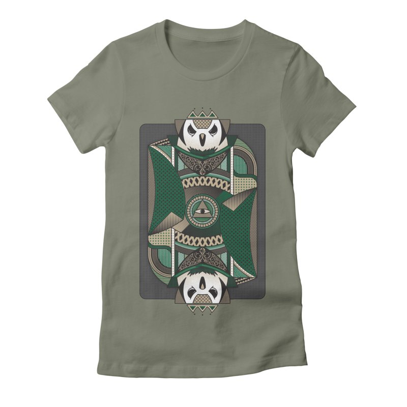 Owl Women's Fitted T-Shirt by MEMOS