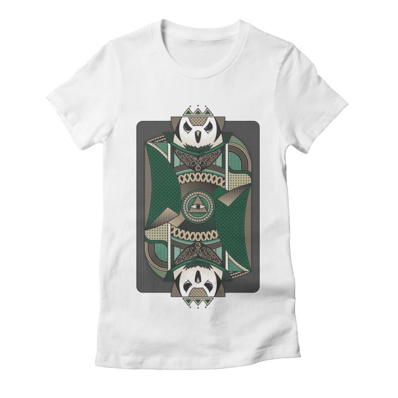 Owl Women's Fitted T-Shirt by ME&MO Design
