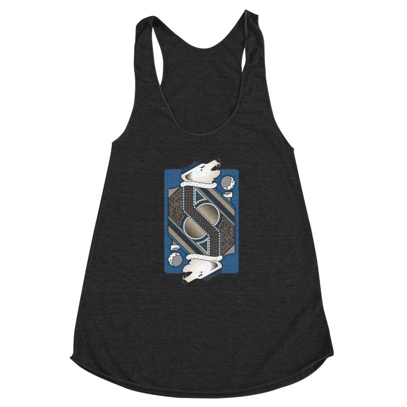 Wolf Women's Racerback Triblend Tank by ME&MO Design