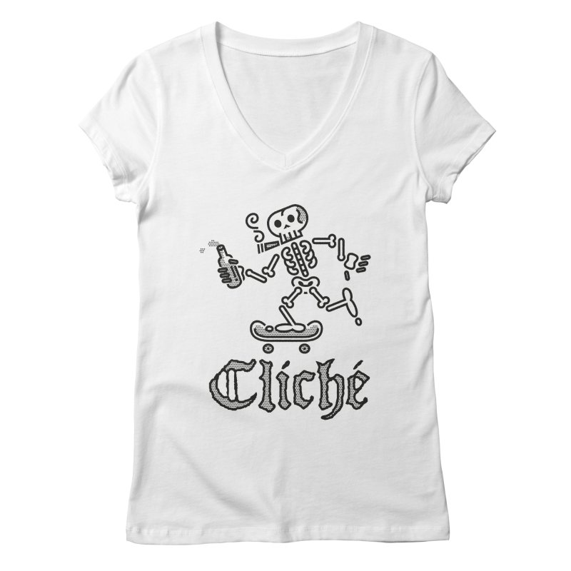 Skelly Black Women's V-Neck by ME&MO Design