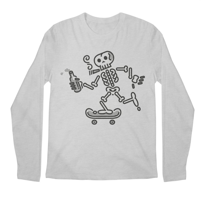 Skelly Black Men's Longsleeve T-Shirt by ME&MO Design