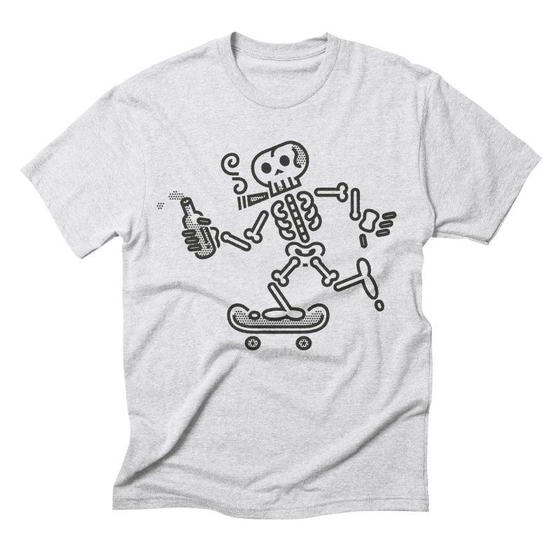 Skelly Black Men's Triblend T-Shirt by ME&MO Design