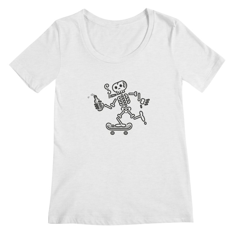 Skelly Black Women's Scoopneck by ME&MO Design