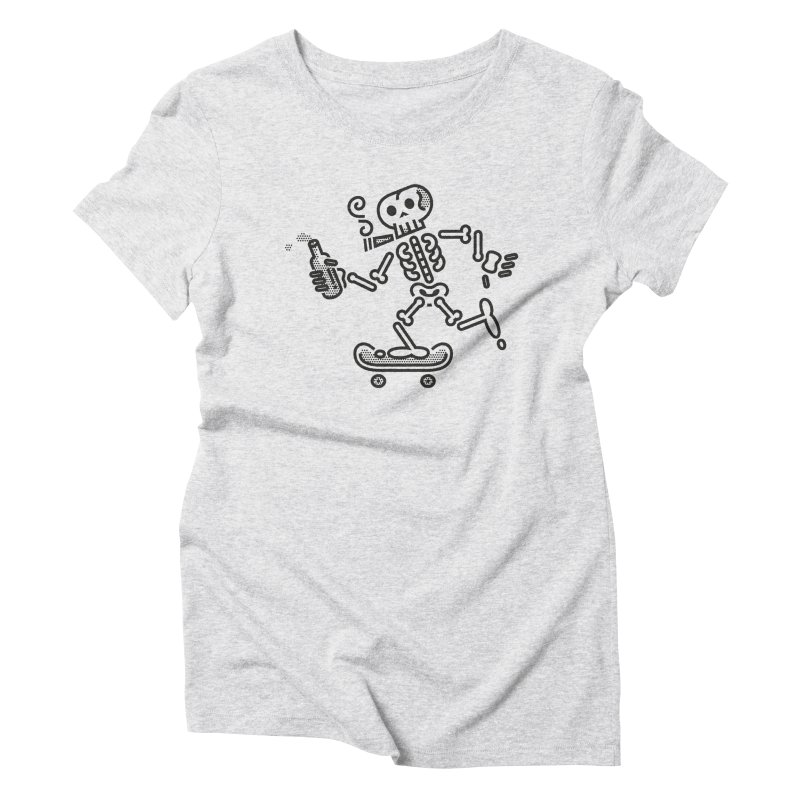 Skelly Black Women's Triblend T-Shirt by ME&MO Design