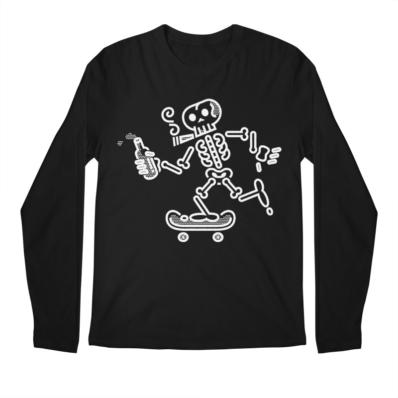 Skelly White Men's Longsleeve T-Shirt by ME&MO Design