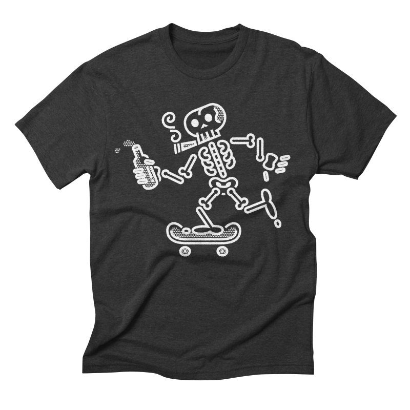 Skelly White Men's Triblend T-Shirt by ME&MO Design