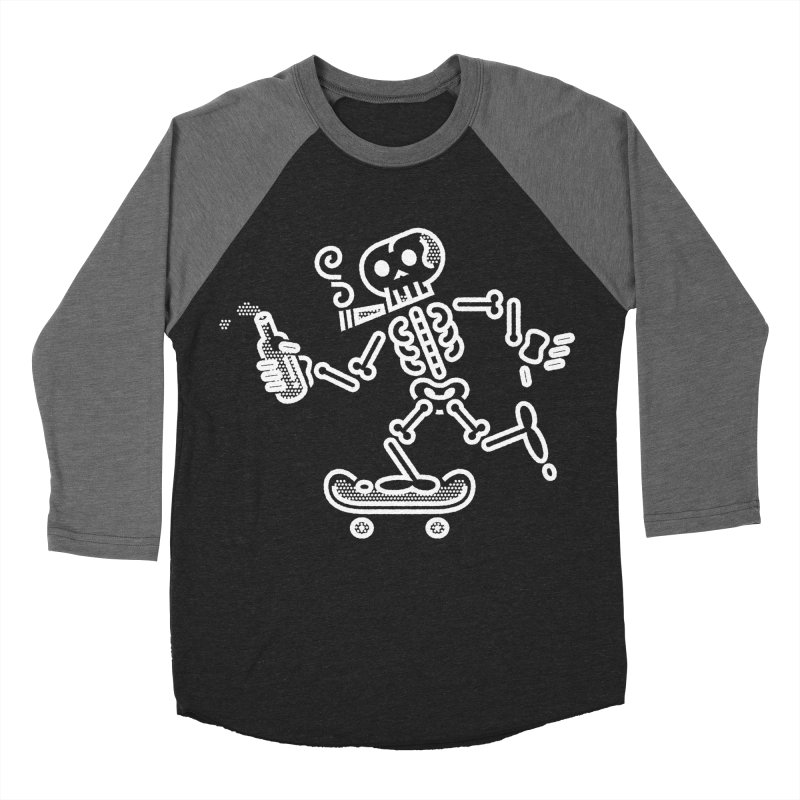 Skelly White Men's Baseball Triblend T-Shirt by ME&MO Design