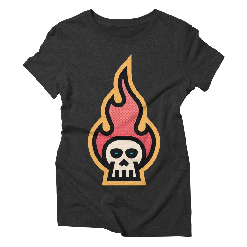 Me&Mo Avatar Skull Flame Women's Triblend T-Shirt by ME&MO Design