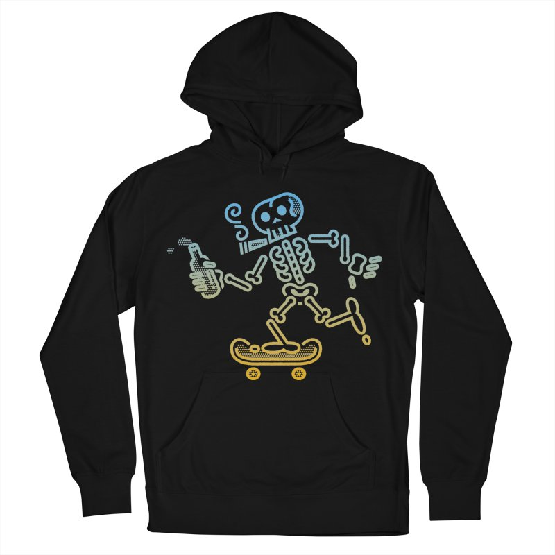 Skelly Blue Orange Women's Pullover Hoody by ME&MO Design