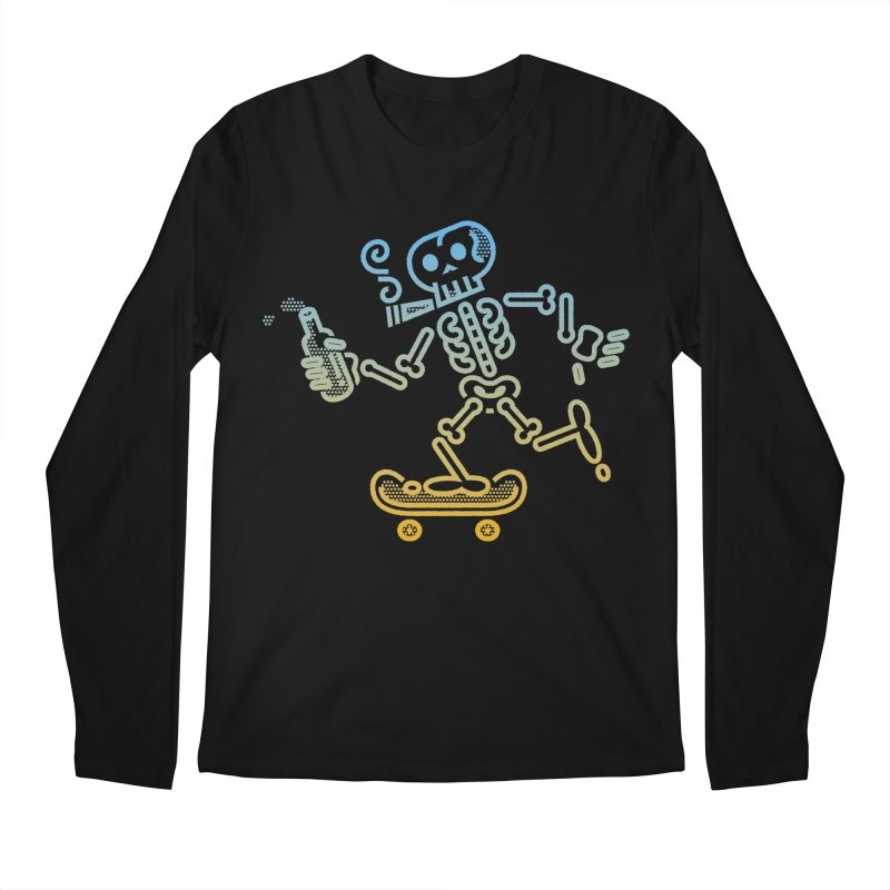 Skelly Blue Orange Men's Longsleeve T-Shirt by ME&MO Design