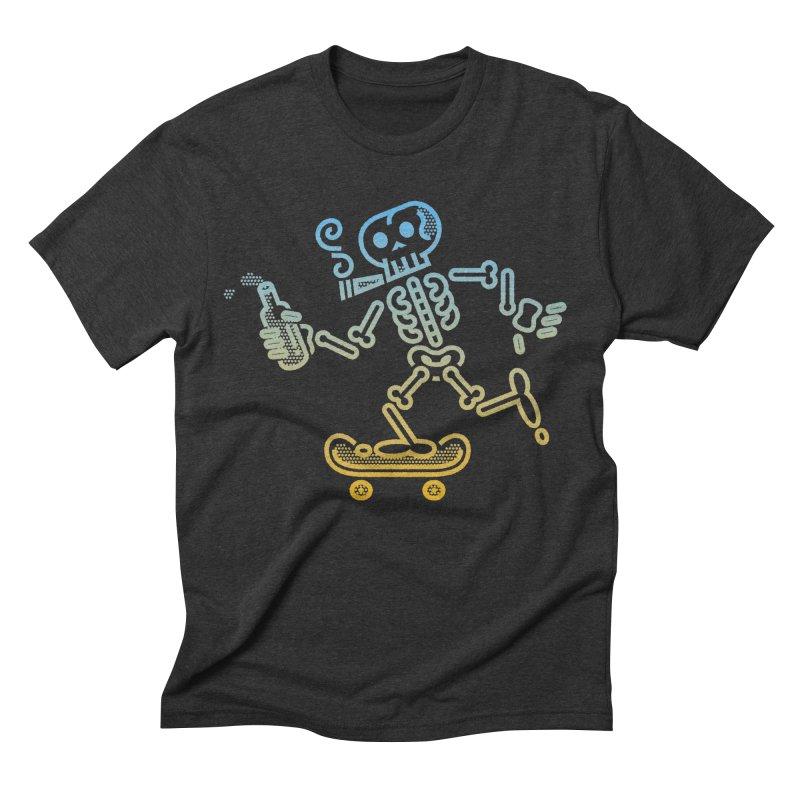 Skelly Blue Orange Men's Triblend T-Shirt by ME&MO Design