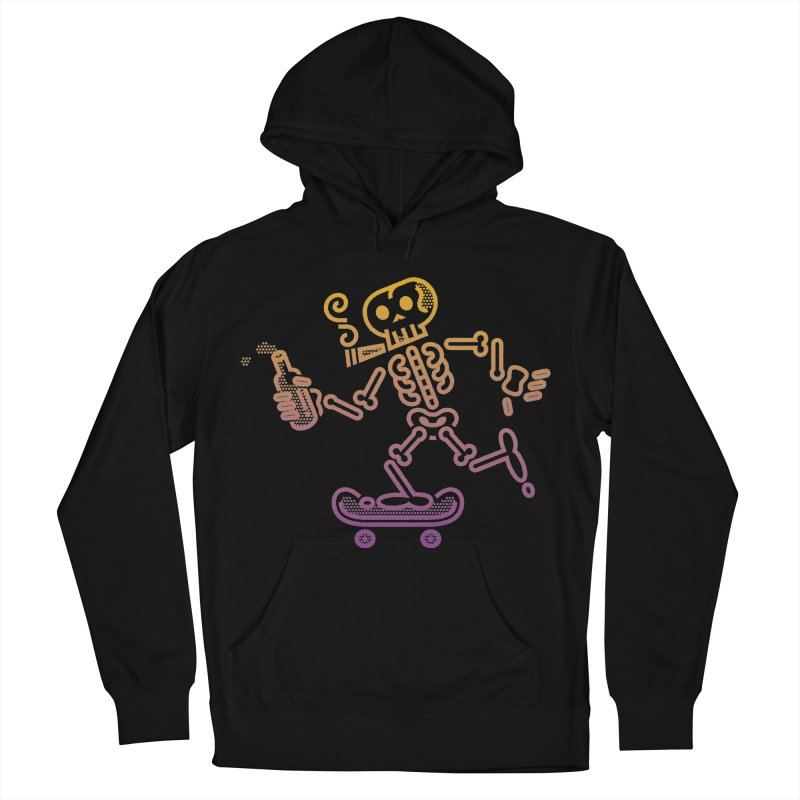 Skelly Orange Purple Women's Pullover Hoody by ME&MO Design