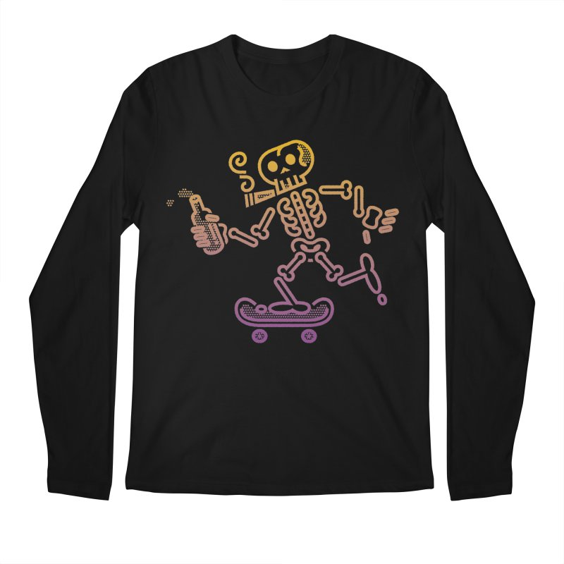 Skelly Orange Purple Men's Longsleeve T-Shirt by ME&MO Design