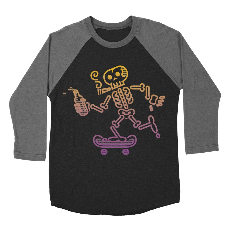 Skelly Orange Purple Women's Baseball Triblend T-Shirt by ME&MO Design
