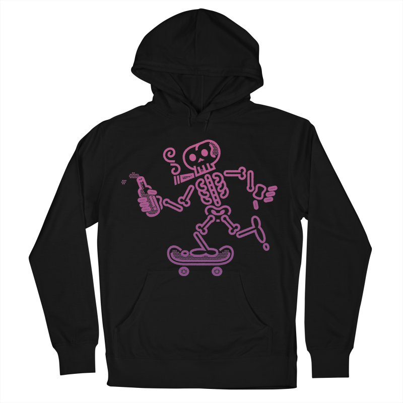 Skelly Pink Purple Women's Pullover Hoody by ME&MO Design